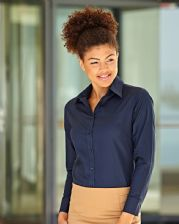 65002 Fruit Of The Loom Ladyfit Oxford Long Sleeve Shirt